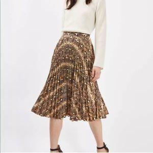 NWT Topshop snakeskin skirt